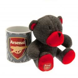Hrnek s plyšovým medvědem Arsenal FC (sada)
