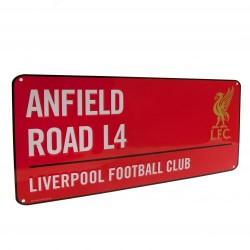 Plechová cedulka Liverpool FC ulice červená