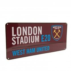 Plechová cedulka West Ham United FC ulice (typ CL)