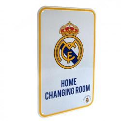 Plechová cedulka Real Madrid FC šatna