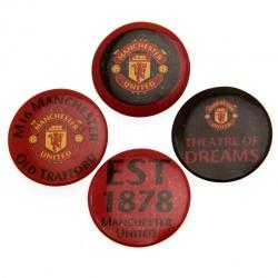 Sada 4 placek Manchester United FC (typ 18)