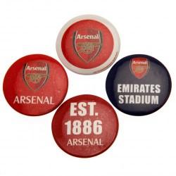 Sada 4 placek Arsenal FC (typ 18)