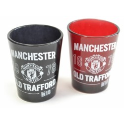 Sada 2ks skleniček panáků Manchester United FC (typ 18)