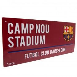 Plechová cedulka Barcelona FC ulice hnědá (typ 18)