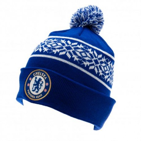 Zimní čepice Chelsea FC s bambulí (typ SF)