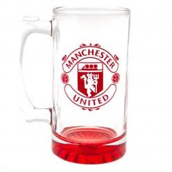 Pivní sklenice s uchem Manchester United FC (typ 19)