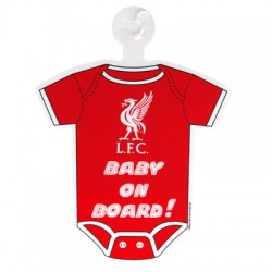 Cedulka do auta Baby on board Liverpool FC (typ body)
