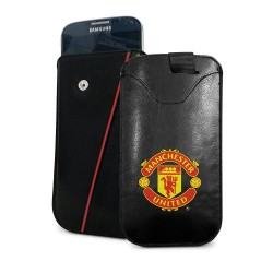Kožené pouzdro na mobil Manchester United FC (typ menší)