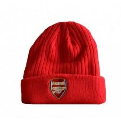 Zimní čepice Arsenal FC červená typ BB (s lemem)