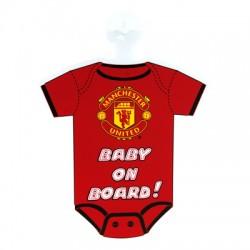 Cedulka do auta Baby on board Manchester United FC (typ body)