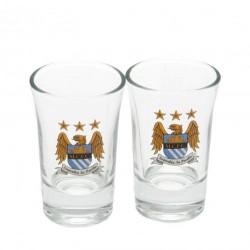 Sada 2ks skleniček panáků Manchester City FC