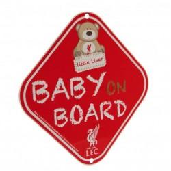 Cedulka do auta Baby on board Liverpool FC (typ medvídek)
