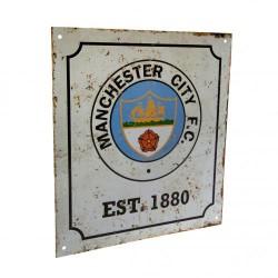 Plechová cedulka Manchester City FC znak retro