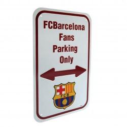 Plechová cedulka Barcelona FC No Parking (typ 16)