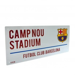 Plechová cedulka Barcelona FC ulice (typ 16)